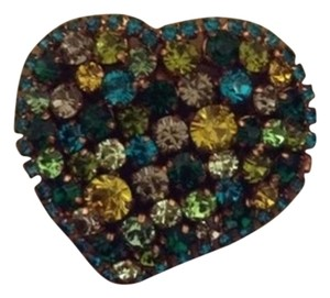 Furla Furla Green Heart Brooch