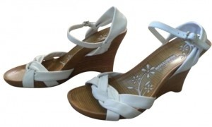 Kenneth Cole Reaction Limme Have It Leather Upper Natural Color Soles White Wedges