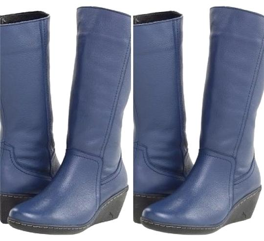 Audjie Wedge Blue Boots