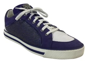 Versace Leather Studded Blue/White Athletic