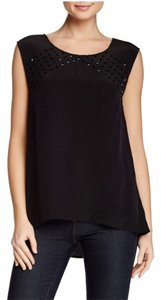 Paige Denim Embellished Top Black