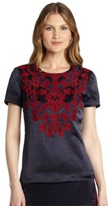 Tory Burch Embroidered Embellished Top