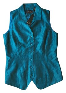 Dana Buchman Button Down Shirt Turquoise