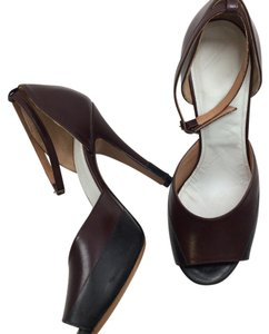 Maison Margiela Brown black Pumps