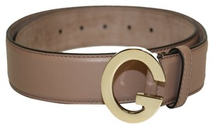 Gucci Gucci Soft Tan Beige Leather G Buckle Belt 362732 Size 32