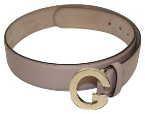 Gucci Gucci Soft Mauve Powder Pink Leather G Buckle Belt 362732 Size 36