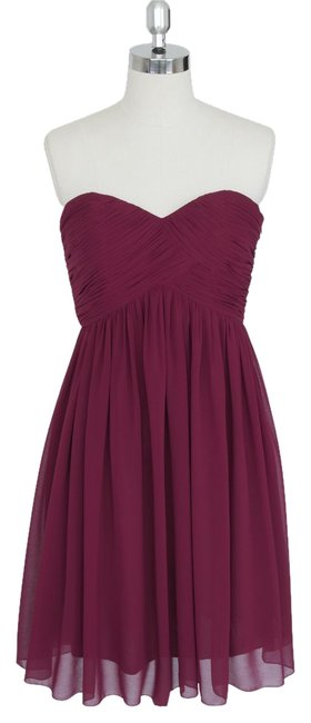 Preload https://item5.tradesy.com/images/burgundy-red-strapless-sweetheart-pleated-bust-chiffon-knee-length-formal-dress-size-8-m-1356089-0-0.jpg?width=400&height=650