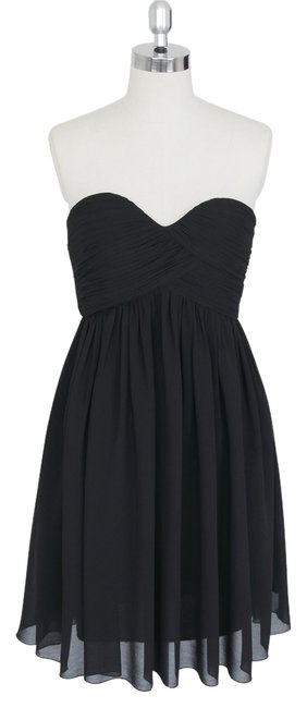 Preload https://item5.tradesy.com/images/black-strapless-sweetheart-pleated-bust-chiffon-knee-length-formal-dress-size-8-m-1356094-0-0.jpg?width=400&height=650