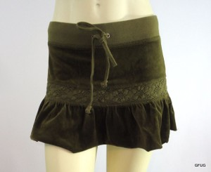 Juicy Couture Ps Olive Mini Skirt Green