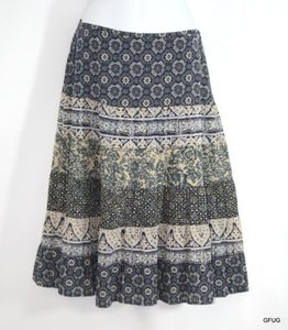 Eddie Bauer Blue Cotton Maxi Skirt Multi-Color