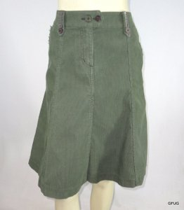Boden 10r Corduroy Paneled Flared Hem Skirt Green