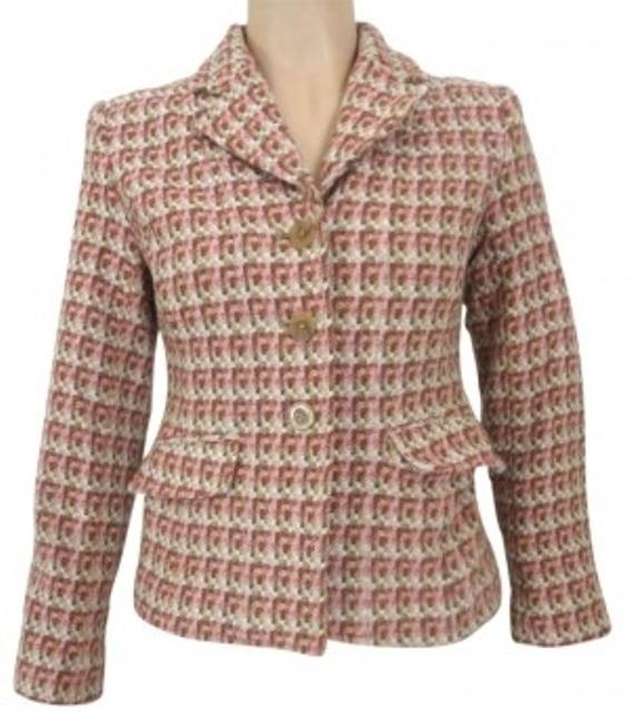 Preload https://img-static.tradesy.com/item/135616/pink-tweed-jacket-small-in-ivory-and-green-blazer-size-4-s-0-0-650-650.jpg