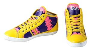 Dolce&Gabbana Yellow Pink High Tops Mens Yellow/Purple/Pink Athletic
