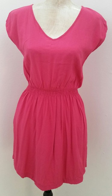 Preload https://item2.tradesy.com/images/mossimo-supply-co-pink-pocket-elastic-waist-above-knee-short-casual-dress-size-8-m-1356176-0-0.jpg?width=400&height=650