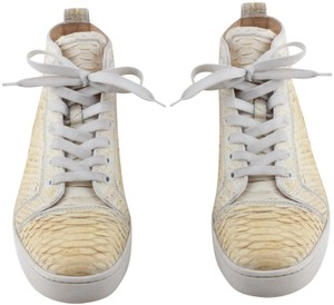 huge selection of 16a64 9ae11 Christian Louboutin Ivory Rantus Orlato Men's High Top Python Sneakers Size  US 8.5 Regular (M, B) 40% off retail