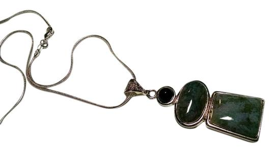Other New Sterling Silver Labradorite Gemstone Pendant Necklace J379