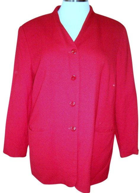 Talbots Size 22wp RED 2ND PIC MOST ACCURATE Blazer