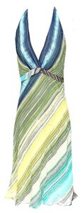 BCBGMAXAZRIA short dress Silk Striped Halter Summer on Tradesy