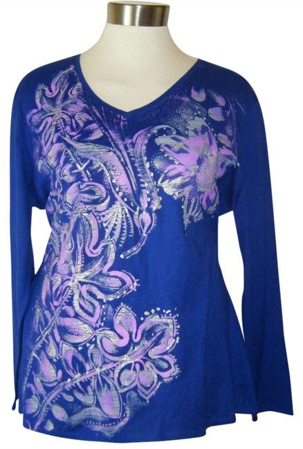 Preload https://img-static.tradesy.com/item/1356250/just-my-size-blue-2x-v-neck-ls-embellished-cotton-royal-pompeii-tee-shirt-size-24-plus-2x-0-0-650-650.jpg
