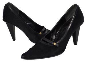 Gianni Versace Pony Hair Black Pumps