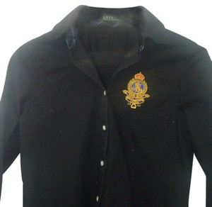 Lauren Ralph Lauren Button Down Shirt Blac