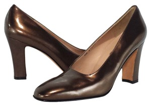 Salvatore Ferragamo Leather Bronze Pumps