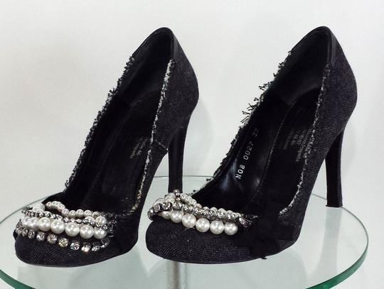 Pedro Garcia Embellished Charcoal Grey Pumps