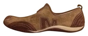 Merrell Leather Suede Athletic Brown Flats
