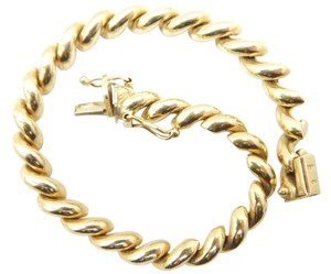 Gorgeous 14k Authentic Gold San Marco Bracelet 14.6 Grams - 7