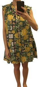 Anthropologie short dress Yellow Green on Tradesy