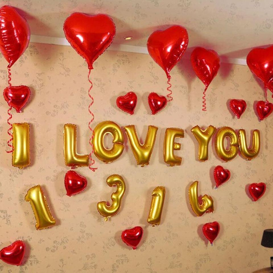 8x foil balloon letter 16quot i love you gold more phrases for I love you letter balloons