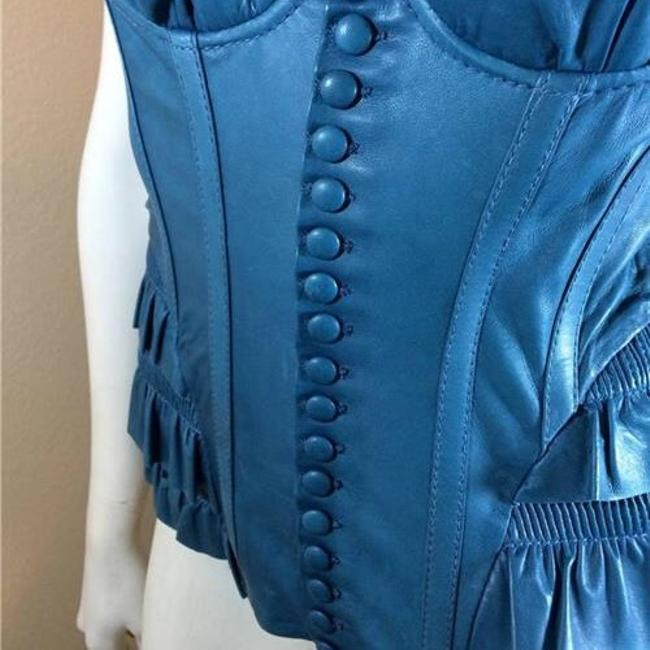 DSquared Leather Top Teal Image 4