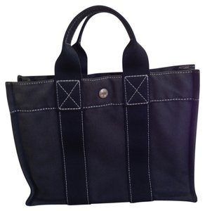 Herms Hermes Travel Tote in Black
