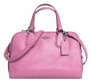 Coach Leather Two Way Summer Color Summer Satchel in Pink