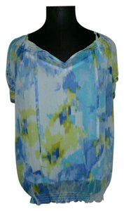 Liz Claiborne Summer Top Blue white