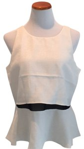 Express Top Ivory/black