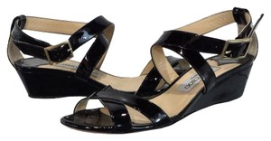 Jimmy Choo Patent Leather Black Wedges
