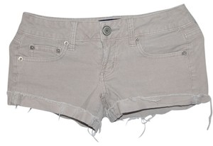 American Eagle Outfitters Cut Off Shorts Cream