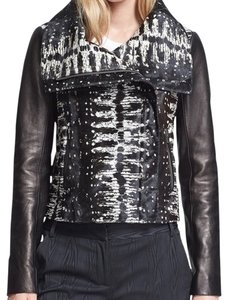 Diane von Furstenberg Leather Moto Motorcycle Jacket