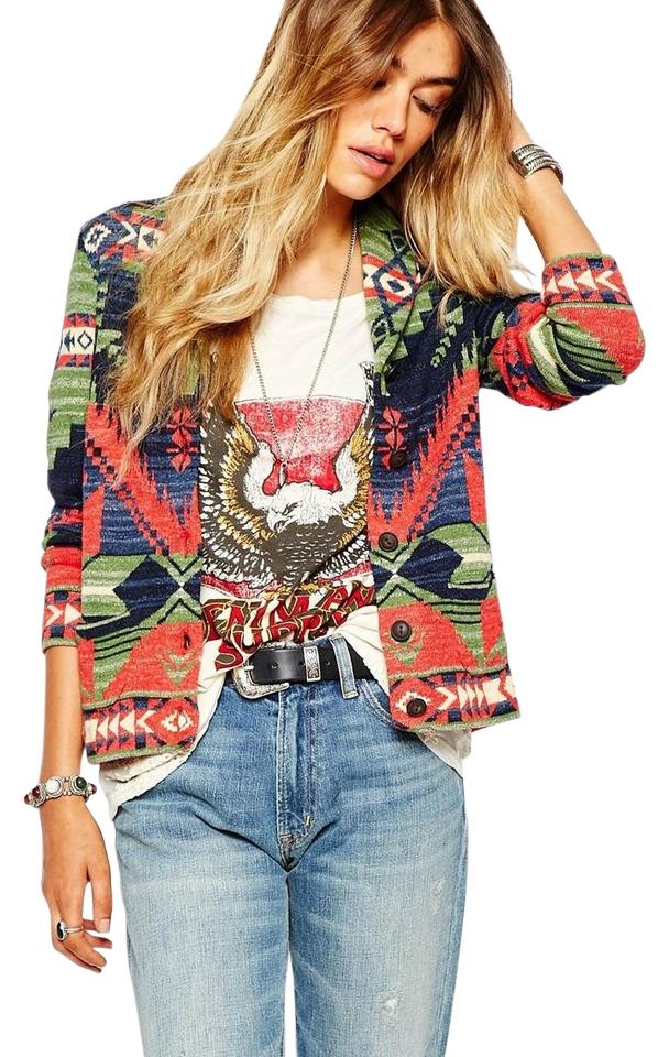 65581aca Ralph Lauren Denim Supply Southwestern Looks Smashing with Denim Size Small  Multicolor Sweater 60% off retail