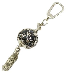 Louis Vuitton Authentic Louis Vuitton Silver-Tone Ice Ball Bag Charm