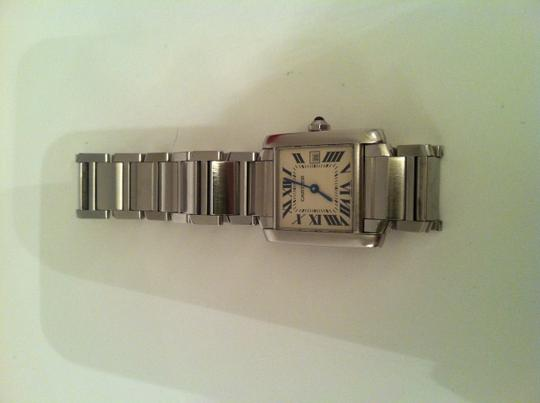 Cartier Authentic CARTIER MEDIUM TANK FRANCAISE WATCH with Date Quartz
