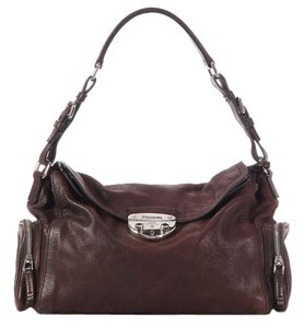 Prada Pr.k0223.09 Brown Antik Leather Shoulder Bag