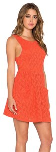Free People short dress PERSIMMON Mini Lace Cutout on Tradesy