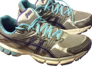 Asics Grey/Purple/Teal Athletic