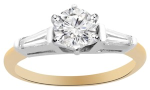 Avital & Co Jewelry 14k Two Tone Gold 0.87 Ct G-si1 Round Cut Diamond Engagement Ring
