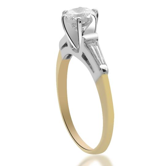 Avital & Co Jewelry 14k Two Tone Gold 0.87 Ct G-si1 Round Cut Diamond Engagement Ring Image 1