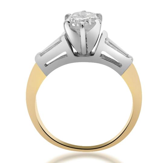 Avital & Co Jewelry 14k Two Tone Gold 0.87 Ct G-si1 Round Cut Diamond Engagement Ring Image 2