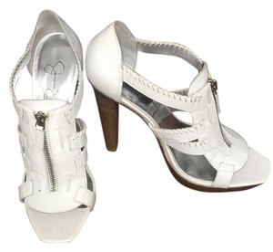 Jessica Simpson White Platforms