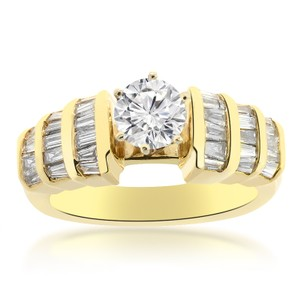 Avital & Co Jewelry 1.00 Carat I1-j Natural Round Cut Diamond Engagement Ring 14k Yellow Gold